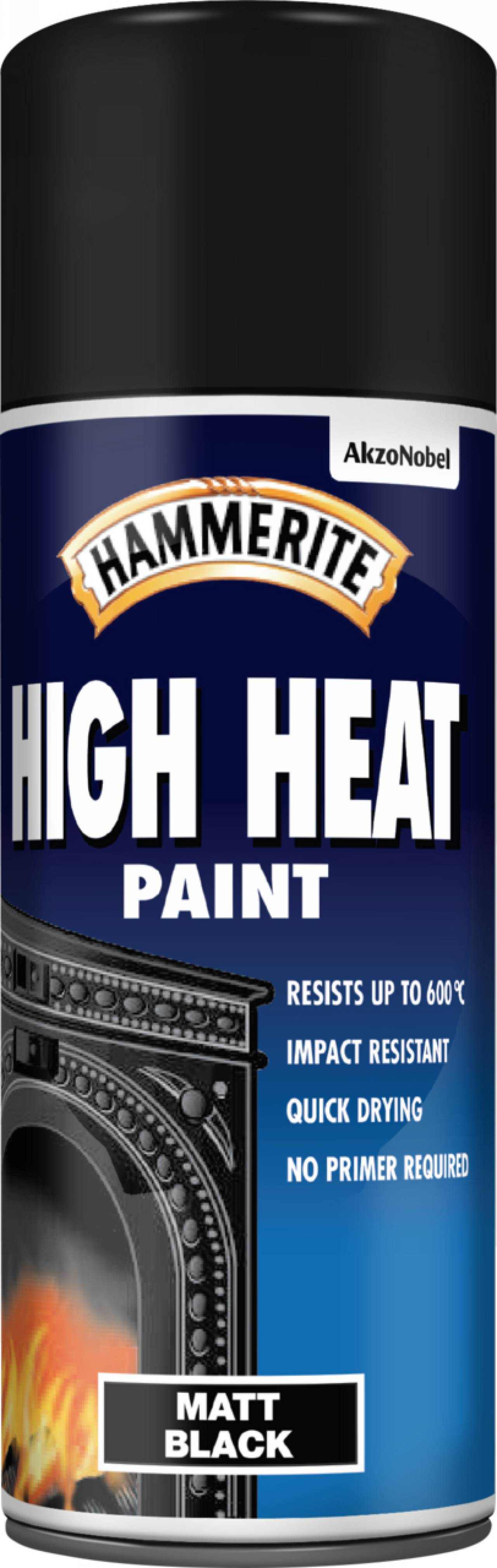 High Heat Paint Aerosol– Protect your metal - Hammerite